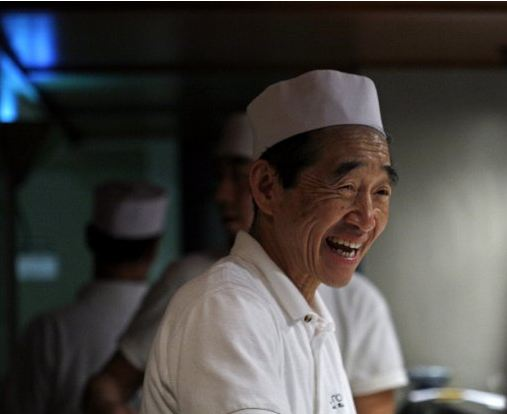 Why is this man laughing? Because he's sushi master Shiro Kashiba and he has a new restaurant opening. (Betty Udesen/ The Seattle Times)