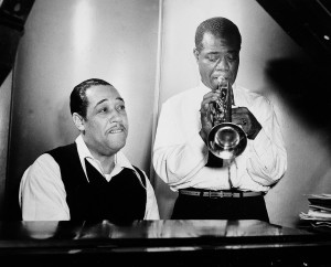 Duke Ellington and Louis Armstrong.