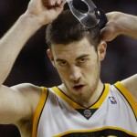 Nick Collison in the Sonics days./Jim Bates, The Seattle Times
