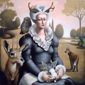 """Costume Party"" by Francesca Sundsten, oil on canvas, 2011 / Shaun Kardinal"