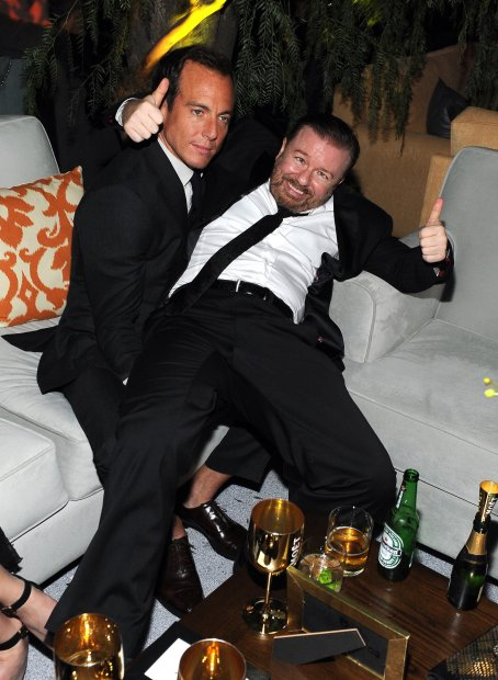Will Arnett and Ricky Gervais by Angela Weiss/Getty Images.