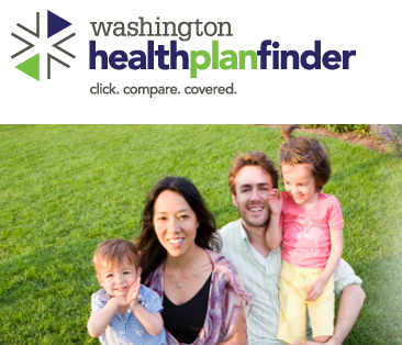 Home page for Washington Healthplanfinder.
