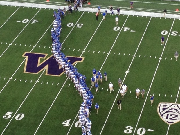 Bothell and Coeur d'Alene shake hands after a high-scoring game.