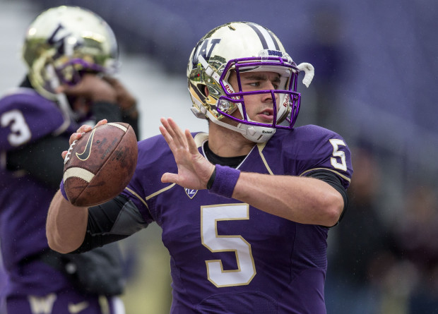 UW quarterback Jeff Lindquist will make his first career start in the Huskies' season opener at Hawaii next week. (Photo by Dean Rutz/The Seattle Times)