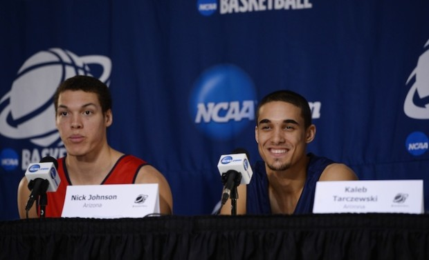 Arizona will lose freshman forward Aaron Gordon and junior guard Nick Johnson to the NBA. (Photo credit: USA Today Sports)