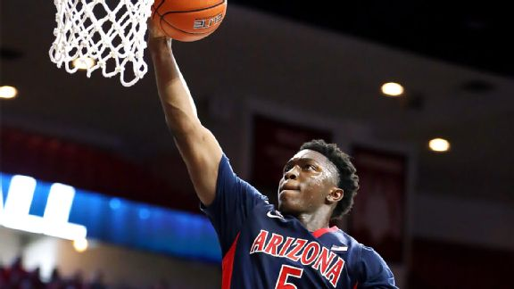 Freshman Stanley Johnson is Arizona's leading scorer (14.7 points per game) and rebounder (6.8). Photo credit: Chris Coduto - Icon Sportswire)