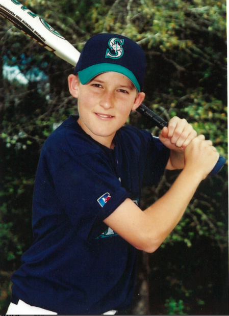 The Mariners were Brad Miller's favorite team as a child and also the name of his Little League squad in Orlando, Fla. Here is Miller at age 11. Photo courtesy of the Miller family.