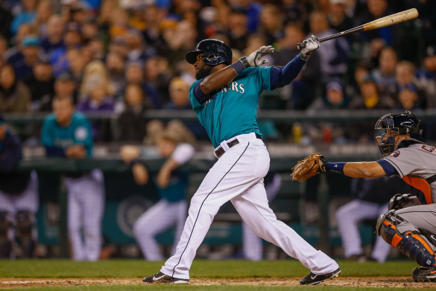 Abraham Almonte started the Mariners' first 23 games in center field. (Getty Images)