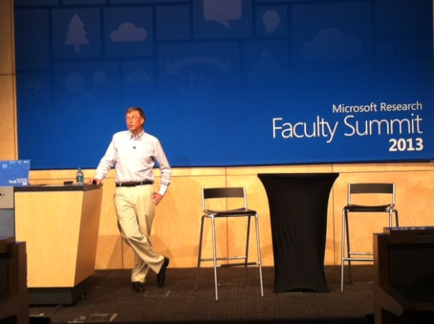 Bill Gates speaks at the 2013 Microsoft Research Faculty Summit (Janet I. Tu / Seattle Times)