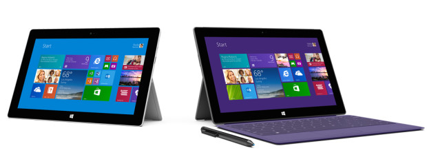 Surface 2 and Surface Pro 2 (Photo from Microsoft)