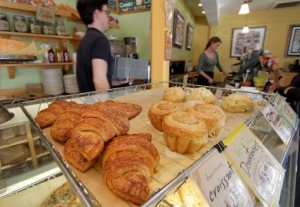 Fresh pastries are always available at Blackbird Cafe on Bainbridge Island. (photo by Greg Gilbert / The Seattle Times)