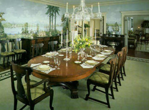 The dining room of the Governor's Mansion. (Wash. Governor's Mansion Foundation photo)