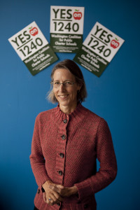 Lisa Macfarlane, director of the group 'Democrats for Education Reform' and co-founder of the 'League of Education Voters' led the charge of bringing charter schools to Washington state. [Bettina Hansen, The Seattle Times]