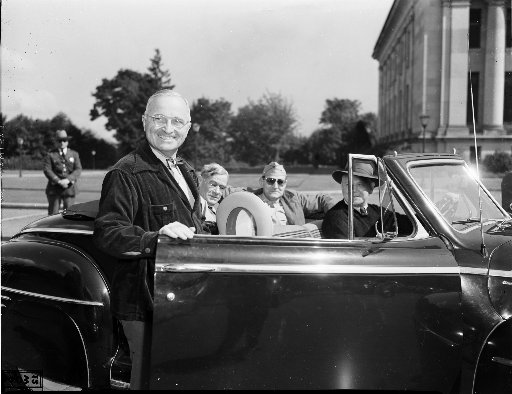 President Harry Truman in Olympia, June 1945 (Seattle Times file photo)