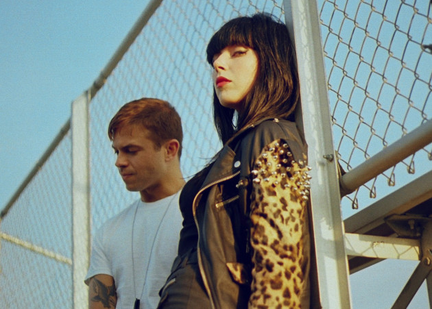 Derek Miller and Alexis Krauss are Sleigh Bells (photo by Petra Collins)