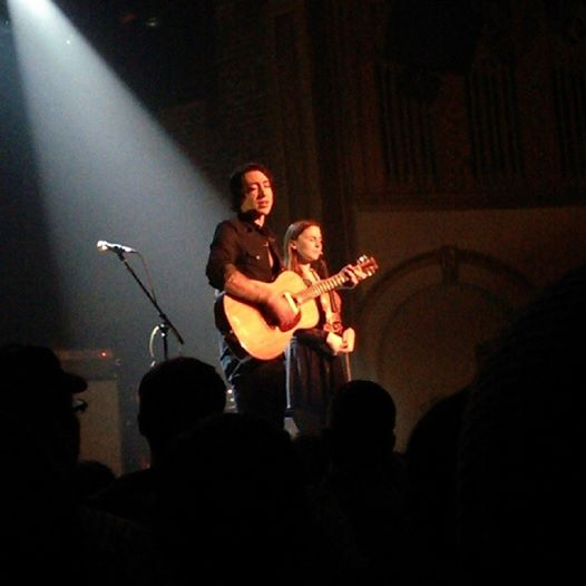 Noah and Abby Gundersen at the Neptune Theatre Saturday.