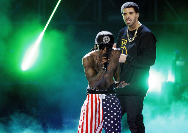 Lil Wayne and Drake (Associated Press)