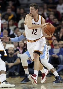 Cleveland Cavaliers Joe Harris looks to pass in a recent Cavaliers game.  Photo by Phil Masturzo / The Akron Beacon-Journal