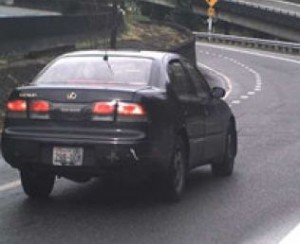 Photo of the car being sought. (King County sheriff's photo)