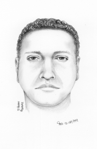 Sketch of man who posed as a cop.
