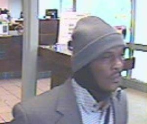 Here's a photo of one of the bank robbers during Burien bank robbery. (King County Sheriff's Office photo)