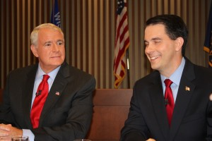 Barrett & Walker before Marquette debate