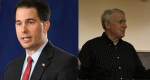 Gov. Scott Walker (R-WI) and Tom Barrett (D) will go toe to toe in upcoming recall election on June 5, 2012 (Photo courtesy of http://www.scottwalker.org/ and www.barrettforwisconsin.com/).