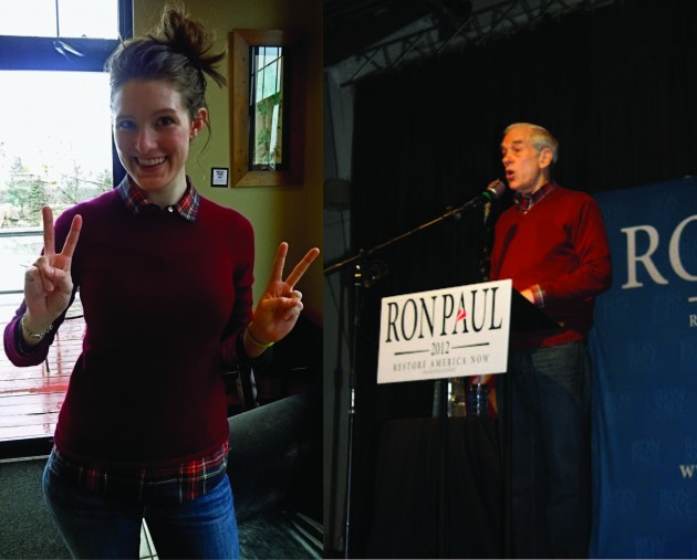 Contributor Alicia Halberg and Rep. Ron Paul had matching outfits