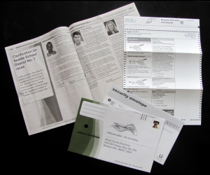 King County Elections ballot